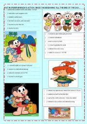 English worksheet: Brendha´s  daily routine