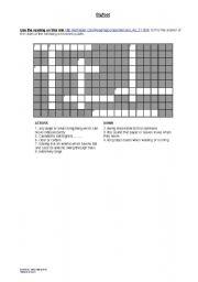 English worksheet: Bigfoot crossword