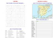 English Worksheet: WEATHER  (& WEATHER IN SPAIN)