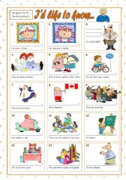 English Worksheets: I�D LIKE TO KNOW...