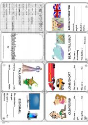 English Worksheet: My little book of comparatives (B/W Version included)