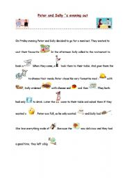 English Worksheets: Peter and Sally´s evening out