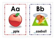 English Worksheet: A - L Alphabet Flashcards