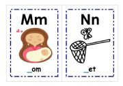 English Worksheet: M-Z Alphabet Flashcards
