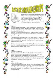 English Worksheet: Easter around Europe