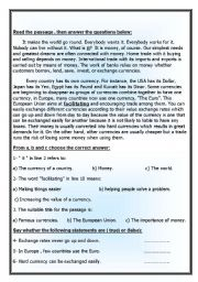 English Worksheets: reading comprehension  part 2