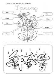 spring coloring esl worksheet by. Black Bedroom Furniture Sets. Home Design Ideas