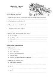 English Worksheet: Gulliver´s travels