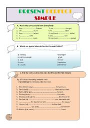 English worksheet: PRESENT PERFECT SIMPLE