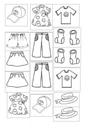 English Worksheet: Put the clothes in the Washing machine!