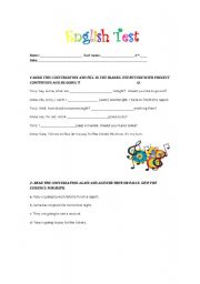 English worksheet: English Test