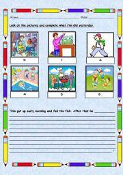 English Worksheets: Writing Practice