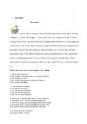 English Worksheets: Reading & Writing activities