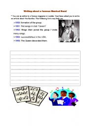 English Worksheets: writing about one�s favourite band