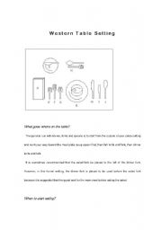 English Worksheets Read and do - Western table setting  sc 1 st  ESL Printables & English teaching worksheets: Setting the table