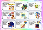 English Worksheet: conversation cards with superlatives