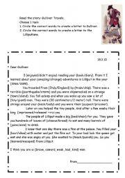 English Worksheets: Gulliver Travele