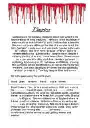 English Worksheets: Vampires