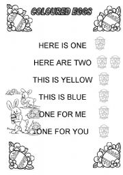 English Worksheets: Coloured eggs