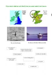 English Worksheet: Loch Ness Activity