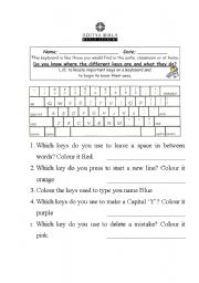 English Worksheets: Know your KeyBoard