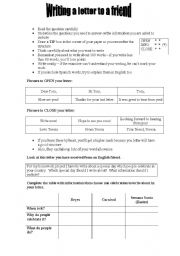 English Worksheets: PET Letter Writing Tips