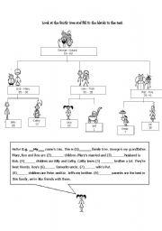 English Worksheets: family_tree