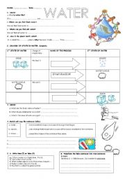 Worksheets Water Conservation Worksheets english teaching worksheets water water