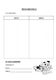 English Worksheets: Boys and Girls