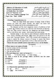 English Worksheet: A complete test with 2 reading comprehension texts.