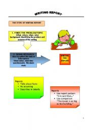 English Worksheet: Writing a Report
