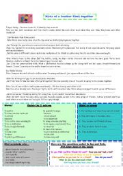 English Worksheet: birds of a feather