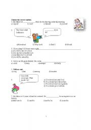 English Worksheet: 8th grade SBS test for Turkish students