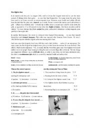 English Worksheets: fire-fighters