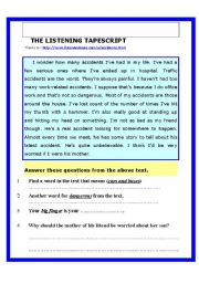 English Worksheets: Reading comprehension test PLUS Listening Test. Suitable for all ages.