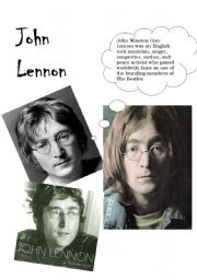 English Worksheet: Imagine by John Lennon