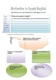 English Worksheet: Motivation to speak English