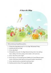 English Worksheets: Trip to the Village
