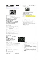English Worksheets: Beyonce song: If I were a boy + discussion questions about men and women