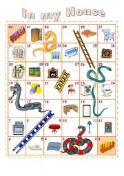 English Worksheet: Furniture and Household Objects