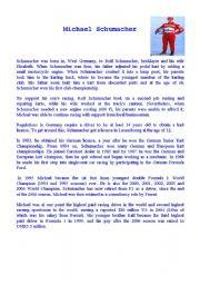 English Worksheets: Micheal Schumacher