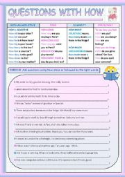 English Worksheets: QUESTIONS WITH HOW