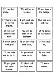 English Teaching Worksheets Conditionals Game