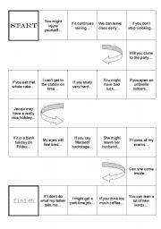 First conditional (will/may/might/can) board game - ESL worksheet by