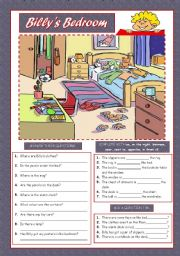 English Worksheet: BILLY´S BEDROOM