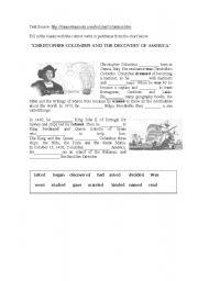 english teaching worksheets christopher columbus. Black Bedroom Furniture Sets. Home Design Ideas