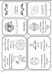 English Worksheets: HAPPY EASTER (reading and colouring activities for young learners)