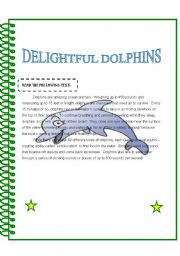 English Worksheets: Delightful Dolphins