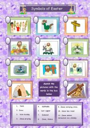 English Worksheet: Symbols of Easter (religious)