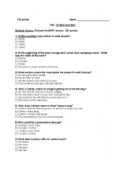Printables Of Mice And Men Worksheets english worksheet of mice and men test